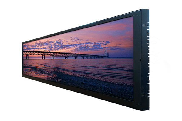 36 inch by 10 inch bar type lcd display