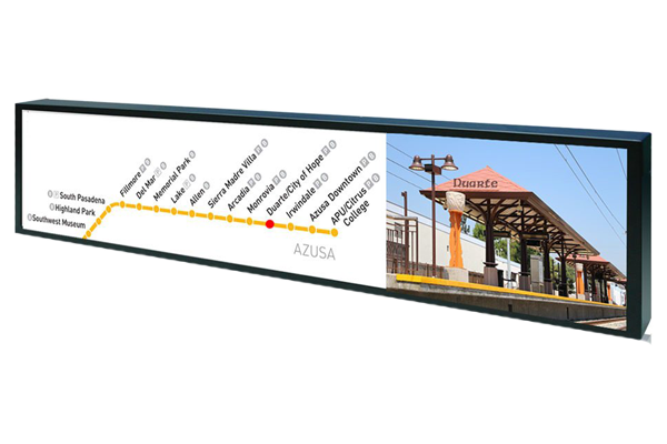 36 inch by 5 inch bar-type LCD display