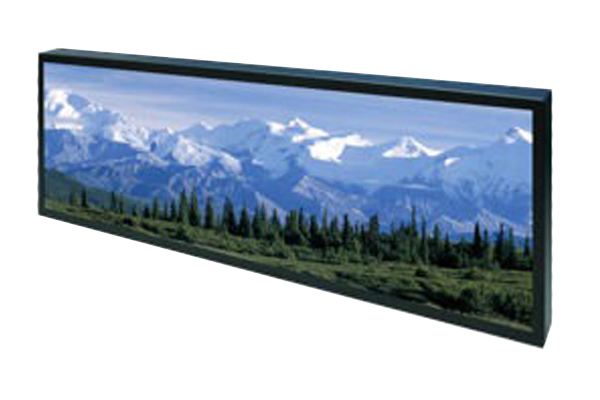 36 inch by 6 inch bar-type lcd display